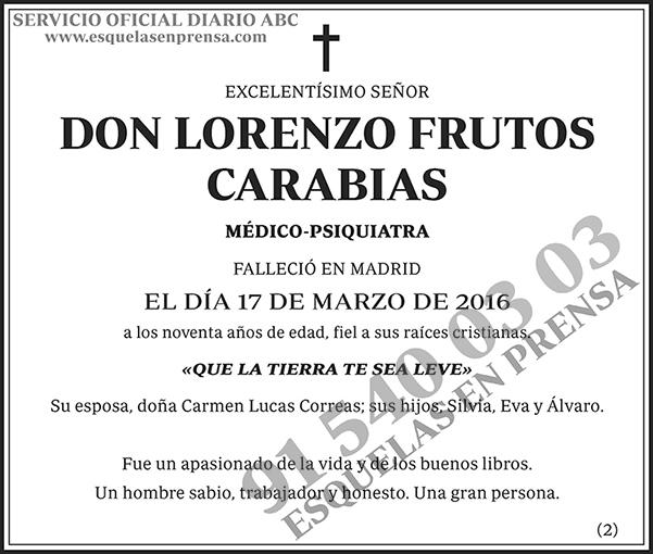Lorenzo Frutos Carabias